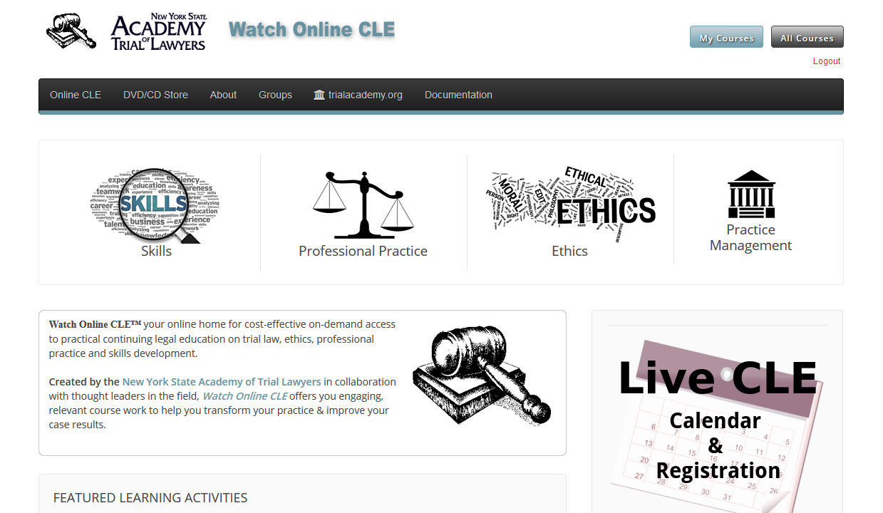New York State Academy of Tial Lawyers Online CLE